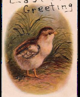 Free Vintage Clip Art – Easter Peep