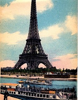 Antique Paris Image – Eiffel Tower