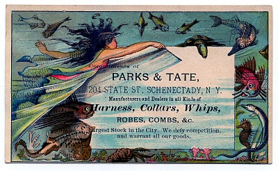 Beautiful Whimsical Mermaid Trade Card – Label
