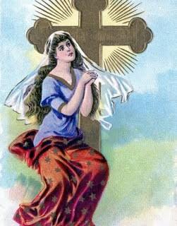 Free Vintage Clip Art – Lady Faith