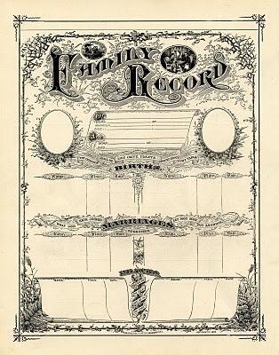 Family Record Printable