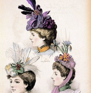 Victorian Clip Art – Ladies Hats – Millinery