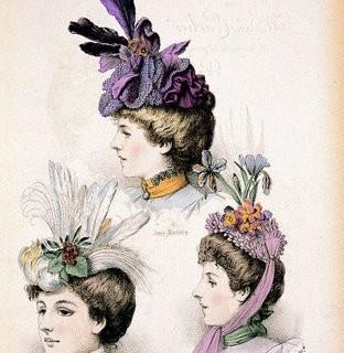 Victorian Clip Art – Ladies Hats – Millinery