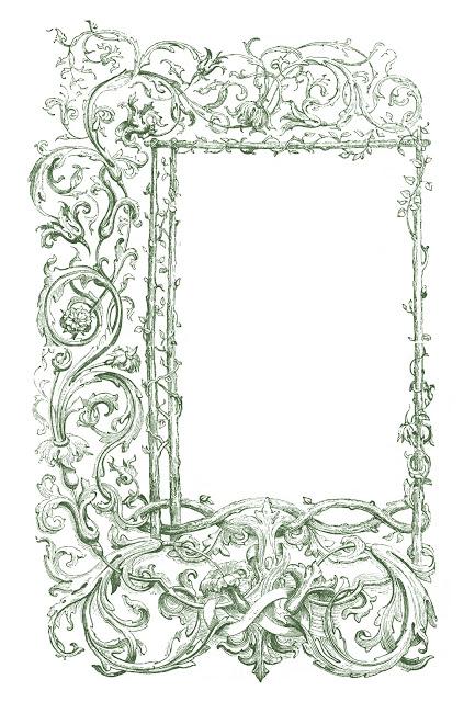 Vintage Clip Art – Faux Bois Frames with Scrolls