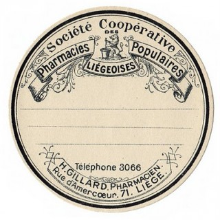 Fab Round French Apothecary Label!