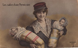 French Woman with Twins