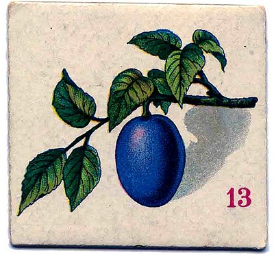 Vintage Graphic Images – Fruit Cards – Plum, Strawberry, Pear