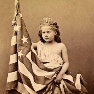 Vintage Clip Art – Patriotic Girl