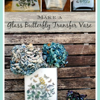 DIY – Mother's Day Glass Butterfly Transfer Vase