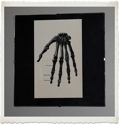 Instant Halloween Art Printable Download – Hand Bones