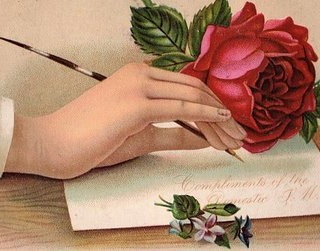 Victorian Hand with Rose