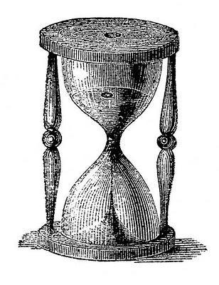 Vintage Clip Art – Hourglass – Steampunk