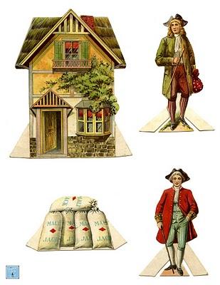 Vintage Kids Printable – The House That Jack Built – Paper Dolls