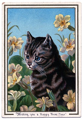 Vintage Clip Art – Darling Kitty Cat