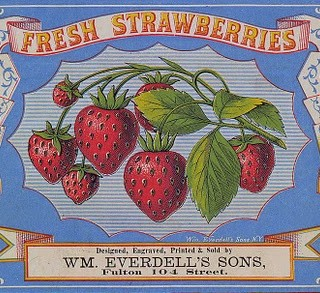 Vintage Clip Art – Strawberry Label