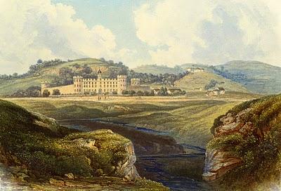 Vintage Printable Image – Landscape Scene with Castle