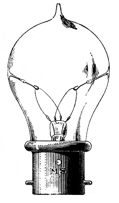 Vintage Clip Art – Old Fashioned Light Bulb