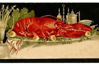 Vintage Clip Art – Lobster Card