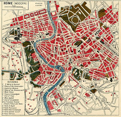 Instant Art Printable Download – Map of Rome