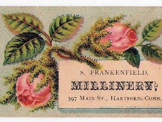 Floral Millinery Calling Cards