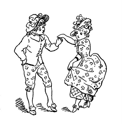 vintage coloring pages of children - photo#28