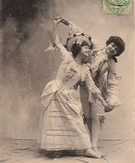 Vintage French Postcard – Cute Dancing Couple
