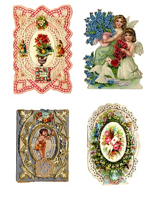 Antique Valentines – Printable Collage Sheet