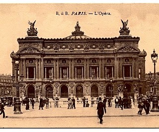 Old Photo Postcard – Paris Opera