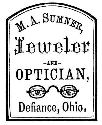Antique Advertising Clip Art – Optician & Jeweler Label