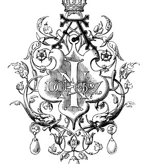 Antique Clip Art – Printers Ornament with Crown