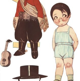 Free Printable – Vintage Boy Paper Doll