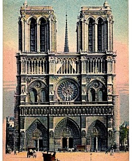 Vintage Paris Travel Postcard – Notre-Dame