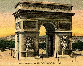 Vintage Travel Postcard – Paris – Arc de Triomphe