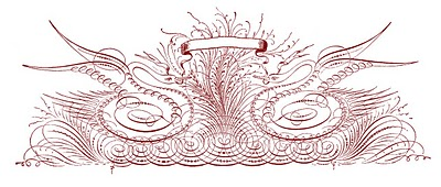 Antique Clip Art – Spencerian Swans