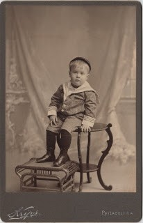 Old Photo- Boy in Sailor Suit