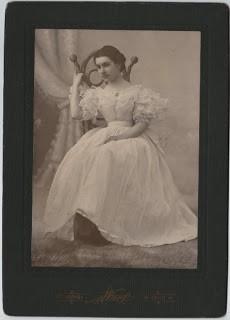 Lady in Fancy Party Dress x2