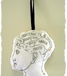 Crafty Project – Phrenology Head Pin Cushion