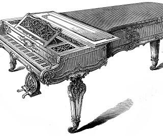 Victorian Clip Art – Grand Piano-Forte