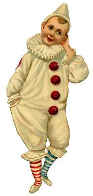 Vintage Graphic – Pierrot Clown Boy