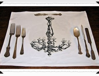 DIY Chandelier Place Mats