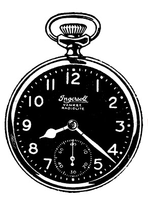 Vintage Clip Art – Black and White Pocket Watches