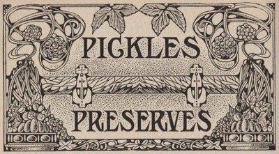 Vintage Label Pickles Amp Preserves The Graphics Fairy
