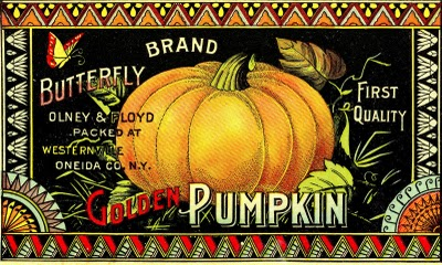 Vintage Halloween Clip Art – Pumpkin Label