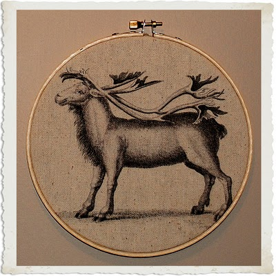 Crafty Project – Christmas Fabric Art – Awesome Reindeer Printable