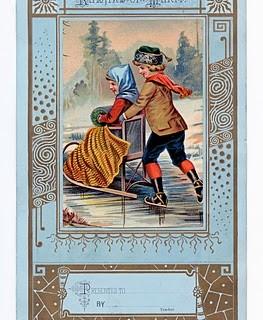Free Vintage Clip Art – Winter Reward of Merit