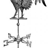Rooster Weathervane Vintage Image