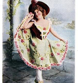 Free Vintage Clip Art – Lovely Dancer with Roses