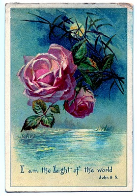 Vintage Clip Art - Moonlight and Roses #2 - The Graphics Fairy