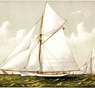 Beautiful Antique Sailboat Image