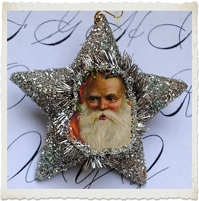 Crafty Christmas Project – Make Santa Glitter Ornaments & Printable!